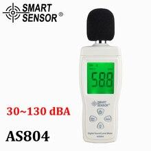 Digital sound level meter Measure 30-130dB Noise dB Decibel meter Monitoring Testers Metro Diagnostic-tool Smart Sensor AS804