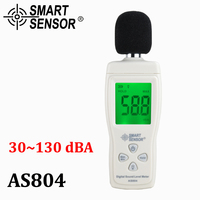 Medidor de Ruído dB Decibel 30-130dB medidor de nível de som Digital Medida Testadores Metro de Diagnóstico-ferramenta de Monitoramento Inteligente Sensor AS804