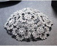 Bridal Rhinestone Glass Wedding Head Flower Hat Tiaras Hair Accessories