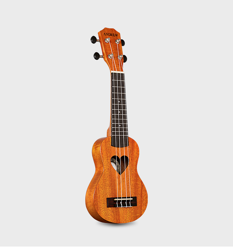 17 inch Ukulele Hawaiian 4 String Small Guitar Mahogany For Beginner With Belt/Cotton Bag/Tuner/Capo/Picks/String dedo ma 11 zinc alloy capo clip on quick release capo for guitar silver