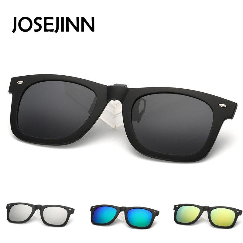 Модный квадратный поляризованные мужчины женщины клип на солнцезащитные очки для мужчин и женщин для вождения Рыбалка близорукость флип н... ...