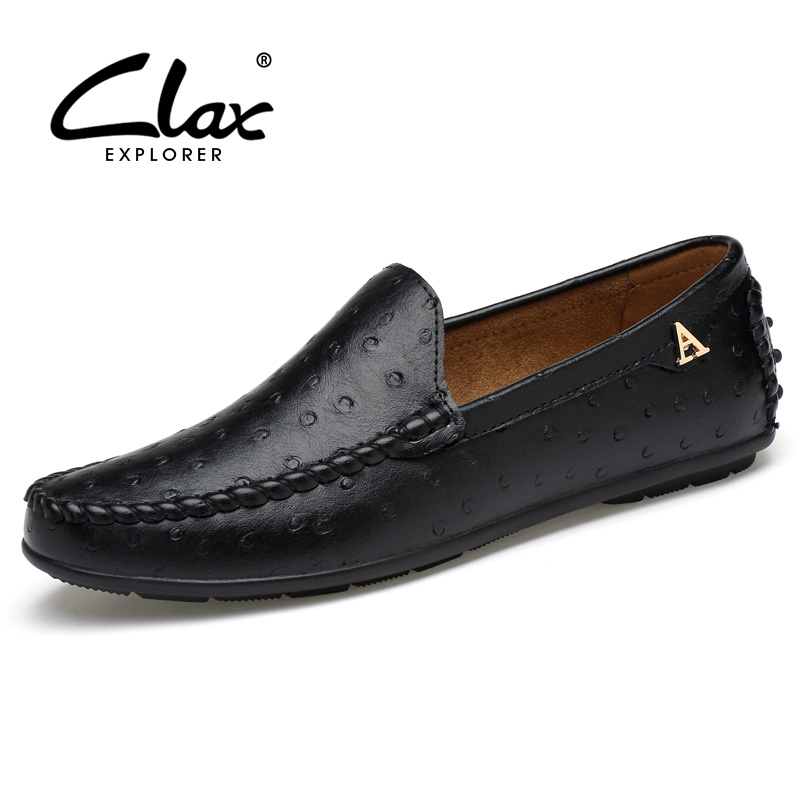 Clax Men Boat Shoes 2017 Spring Autumn Casual Leather Loafers Male Designer Flat Shoe Leisure Footwear Soft Comfortable vesonal 2017 quality mocassin male brand genuine leather casual shoes men loafers breathable ons soft walking boat man footwear