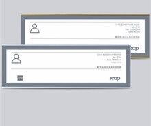 180*60mm Arylic Etiqueta do Metal Quadro de Montagem Na Parede Suporte Do Sinal Nome Desk Exibição Sinalização Capa Quarto Sinal Da Porta placa Titular Do Cartão de Papel