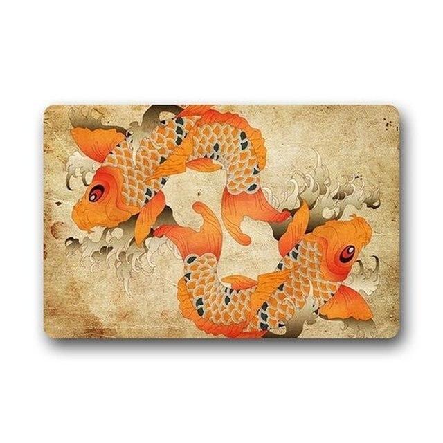 Memory Home Anese Fancy Carp Koi Fish Doormat Indoor Kitchen Bathroom Machine Washable Floor Mats