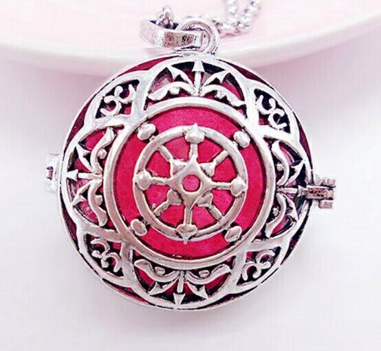 SHIYING cloth Flat circular retro fancy Necklace sweater chain engelsrufer necklace