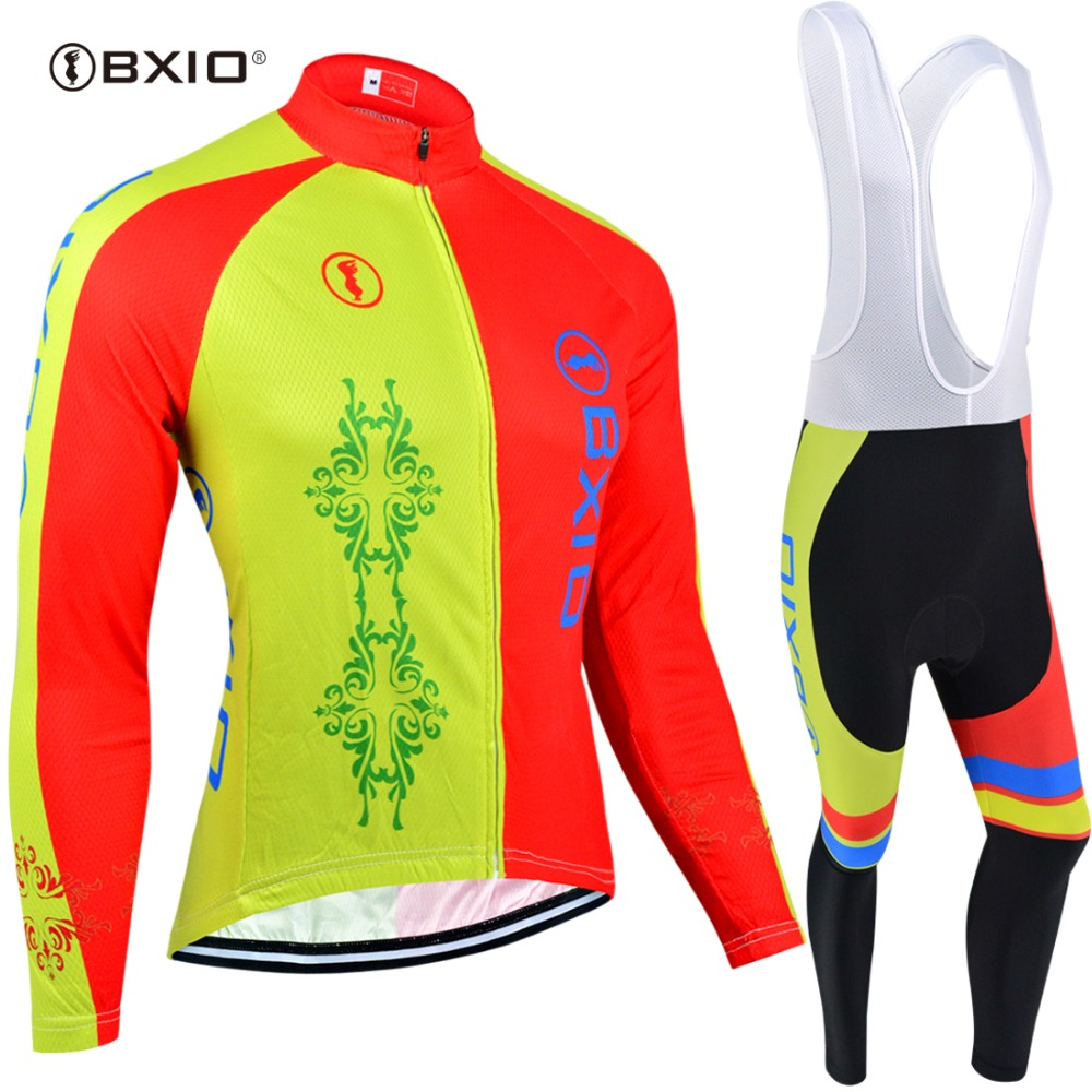 BXIO Winter Ropa Thermal Fleece Ciclismo Long Sleeve Cycling Jersey Bike Riding Wear Cycling Sets Clothing Set BX-0109YR117