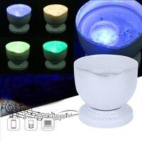 LEDNight Luz Azul Romântico Projetor Ondas Do Mar Lâmpada Novidade Doce Sono Nightlight Luz para Quarto Dos Miúdos Do Natal