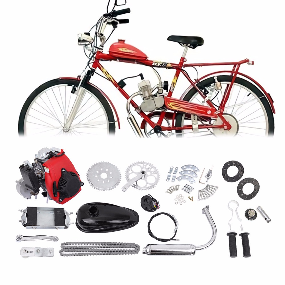 (Ship from EU) 49cc 4-Stroke Cycle Engine Motor Kit Motorized Bike Petrol Gas Bicycle Scooter 2018 rushed 80cc 2 stroke motorized bicycle cycle petrol gas engine motor kit motorized new
