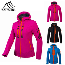 Newest Outdoor Softshell Jacket Women Hiking Jacket Waterproof Windproof Thermal Jacket For Hiking Camping Ski Jackets Women