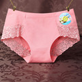 USKINCARE 3 Pieces/Lot Women Cotton panties Lace Girl's seamless briefs Women's Sexy lingerie Ladies Underwear Panties 9880