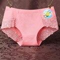 Uskincare 3 unids/lote mujeres escritos inconsútiles de las mujeres de cotton panties lace girl lencería sexy ladies underwear bragas 9880