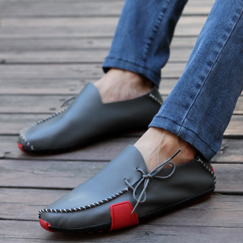 Summer Fashion Soft Leather Man Shoe Casual Slip On Men Flat Loafers Dress Sales Shoes Oxfords Brogues Zapatos Hombre pop men outdoor loafers shoes man s slip on flats chaussure brand man soft flat casual shoes footwear zapatillas hombre xk080514