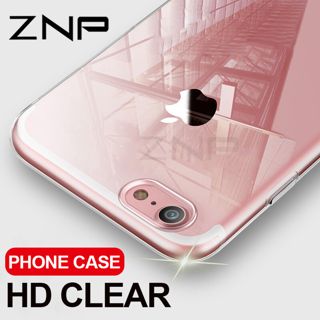 ZNP Ultra Thin Soft Transparent TPU Case For iPhone 8 7 Plus Clear Silicone Full Cover For iPhone 7 Plus 8 Phone Case Capa Coque