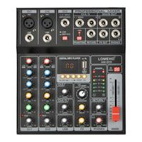 AM G05 Bluetooth USB Record PC Playback Record 4 Channels Guitar Input 2 Mono 1 Stereo Professional USB Audio Mixer