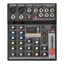 AM-G05 Bluetooth USB Record PC Playback Record 4 Channels Guitar Input 2 Mono 1 Stereo Professional USB Audio Mixer