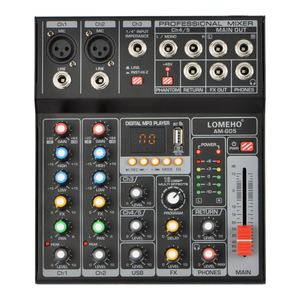 Image 1 - AM G05 Bluetooth USB Record PC Playback Record 4 Channels Guitar Input 2 Mono 1 Stereo Professional USB Audio Mixer