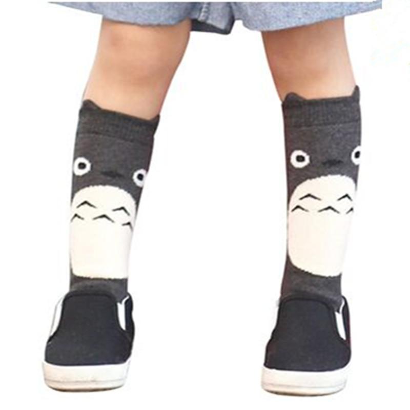 Toddler New Totoro Design Knee High Baby Socks Girls Boys Fall Winter Leg Warmers Fox Socks Knee Pad