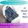 MICWL 10 Wechselseitige Drahtlose Bluetooth USB 24BIT DSP 48 V Phantomspeisung Mic Mischpult Mixer-in Karaoke-Player aus Verbraucherelektronik bei