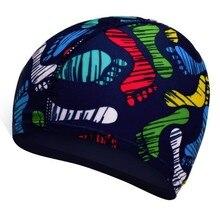 New Designer Colorful Printed Swimming Caps For Men Women Kids Elastic Comfort Hat Cover Long Hair Pool Wear