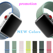 Nylon Loop Strap For Apple Watch4 3 2 1 Sport Wtch Band 38 42 40 44mm Refreshing Breathable Iwatch Series Woven