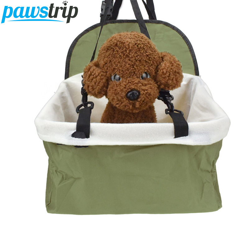 Pawstrip Pet Carrier Dog Car Seat Cover Waterproof Puppy Car Booster Seat Protector Outdoor Travel Dog Car Basket 32*25*19cm