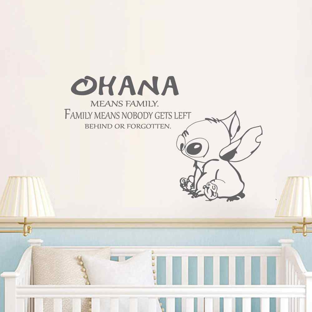 Ohana Quote Lilo and Stitch Inspired Vinyl Wall Decal