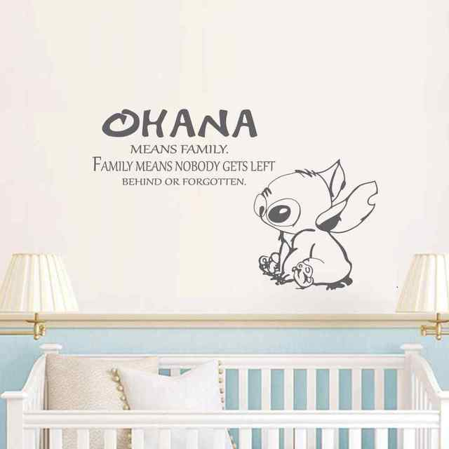 Ohana Zitat Lilo Und Stitch Inspiriert Vinyl Wandtattoo Zitat Baby  Kindergarten Kinderzimmer Wandtattoo Kinderbett Wand