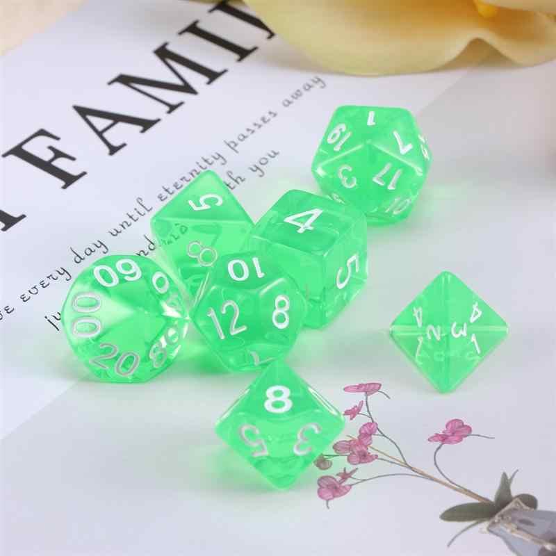 1 шт. прозрачный безопасный Творческий нетоксичен D20 многогранные кубики 20 двусторонняя игра в кости для драконов подземелья настольных игр (зеленый)