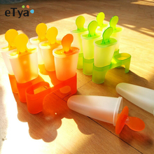 6 Cells DIY Frozen Ice Cream Pop Mold Popsicle Maker Lolly Mould Tray Pan Kitchen tools