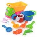 9 Pcs Sandbeach Brinquedos Dos Miúdos Praia Castelo Balde Pá de Areia Pá Ancinho Ferramentas Brinquedos para o Desenvolvimento Do Bebê brinquedos de Banho de Água brinquedo