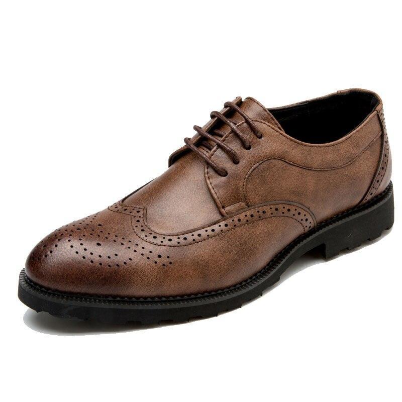 cinza Clássico Dress Homens Shoes Elegante Brogues 28 Couro Luxo 66 brown Msw8118128 Men Marca Designer De Preto Sapatos wqT4gg