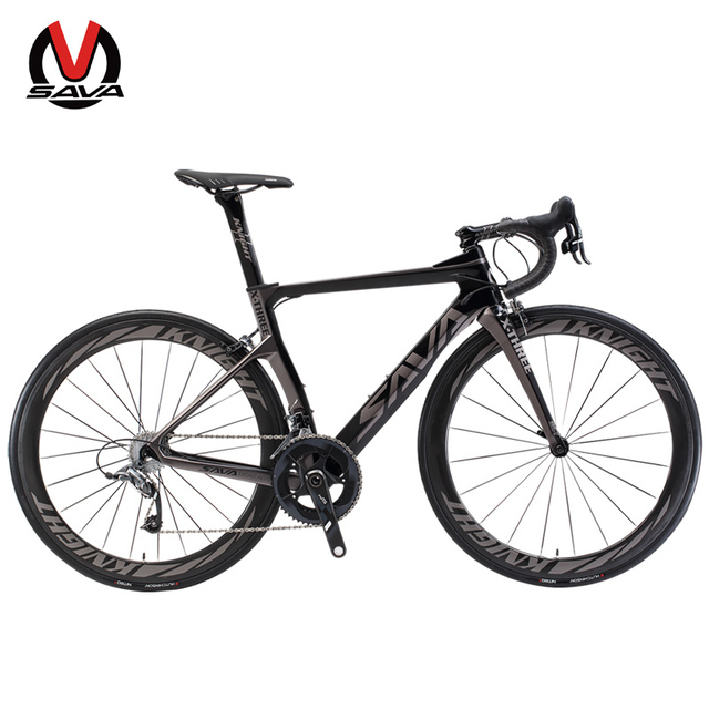 SAVA Road Bike Carbon Fiber Road Bike Professional Cycling Road Bicycle Carbon Bike Complete with SRAM Group FORCE 22 Speed
