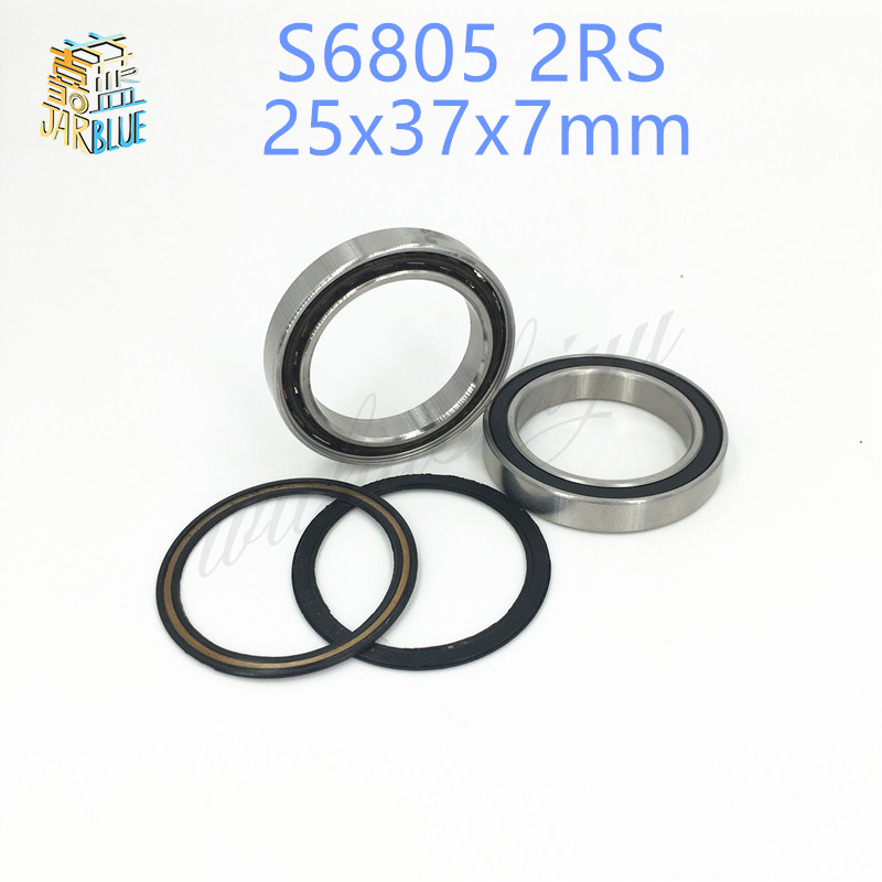 Free shipping 6805-2RS 6805 61805 2RS 25*37*7mm SI3N4 hybrid ceramic deep groove ball bearing 6805RS 25x37x7mm FOR BICYCLE PART 15267 2rs 15 26 7mm 15267rs si3n4 hybrid ceramic wheel hub bearing