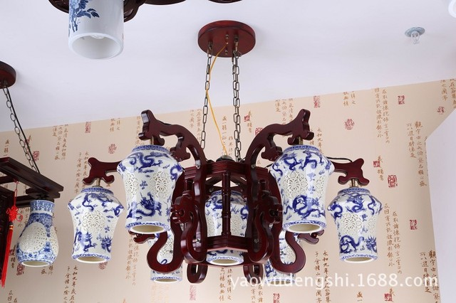 Lampadario In Legno Antico : Legno antico lampada da soffitto lampadario lampada soggiorno luci