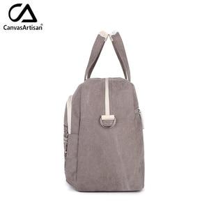 Image 4 - Canvasartisan brand new womens bloemen stijl hangbags grote capaciteit handbagage vrouwelijke multifunctionele reizen schouder draagtas