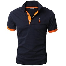 Men's Fashion Cotton Polo Shirts Casual Embroidery Short Sleeve POLO Shirt  Slim Fit Solid Color Tops Men Clothing