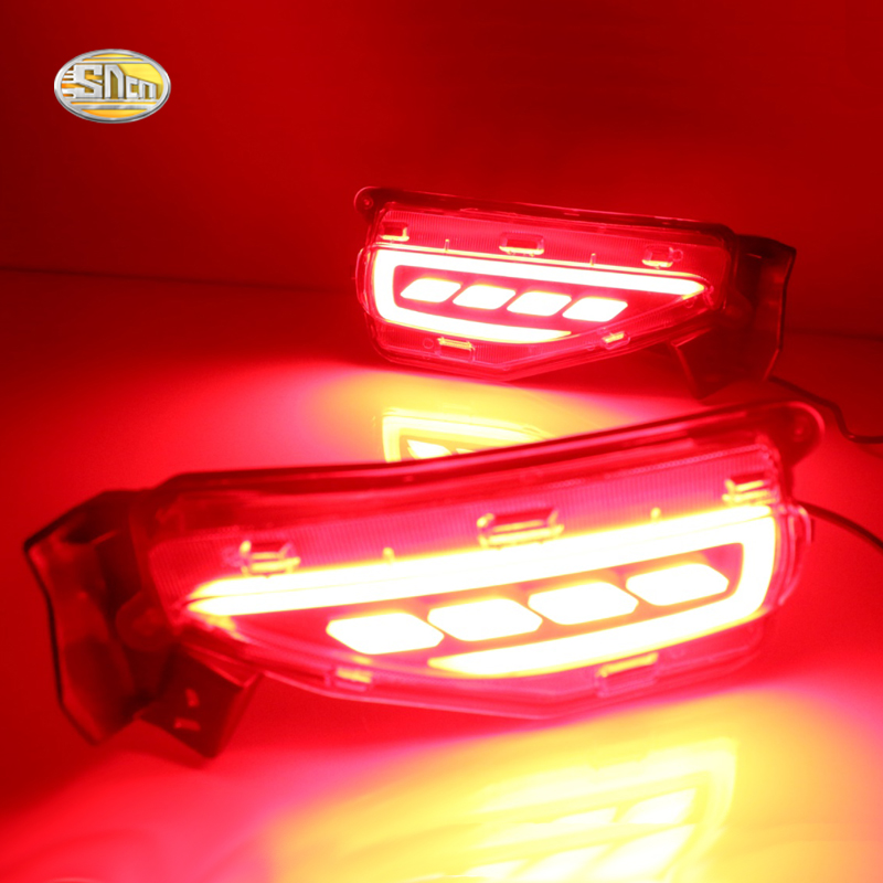 Sncn Led Rear Driving Lights For Toyota Fortuner 2015 2016 Led Brake Lights Rear Bumper Lamp