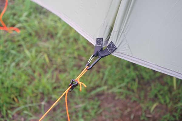 Lona ultra leve da barraca da mosca da chuva, revestimento impermeável do silicone 20d