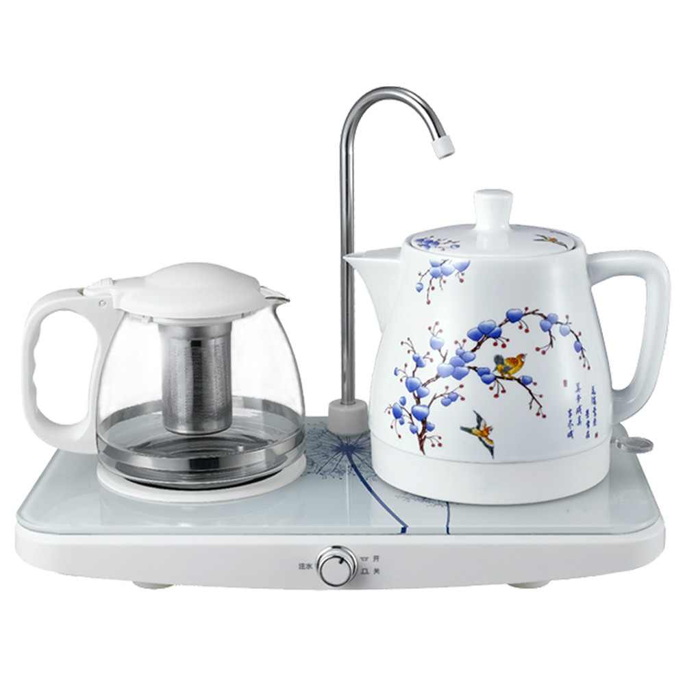 Electric kettle Automatic upper water teapot ceramic electric set Overheat Protection цена
