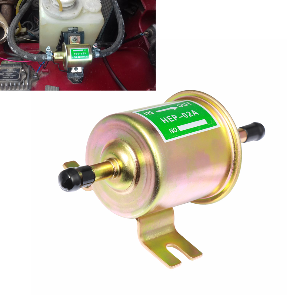 Brand New 12V Electric Fuel Pump Low Pressure Bolt Fixing Wire Diesel Petrol HEP-02A For Car Carburetor Motorcycle ATV electronic fuel pump hep 02a 12v 24v car modification gas diesel low pressure petrol for motorcycle toyota ford yanmar nissan