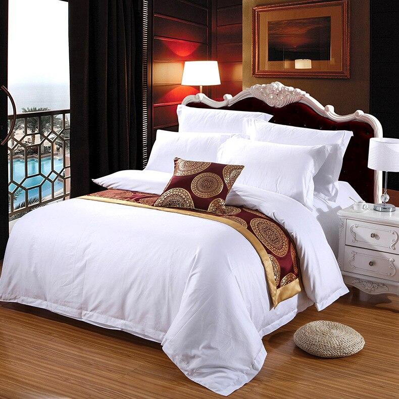 Bettbezug Schützt und Deckt ihre Tröster/Bettdecke Einfügen, luxus 100% Baumwolle Volle Größe Farbe Weiß 4 stück Bettbezug set
