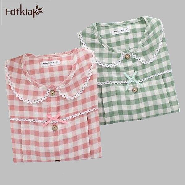 Autumn winter 2017 new pregnant women pyjama set long sleeve cotton pajamas loose breast feeding pijamas sleepwear set