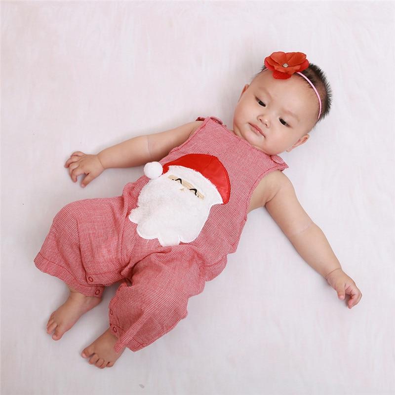 Divat baba karácsonyi rompers fiú lány ujjatlan mellény Mikulás - Bébi ruházat - Fénykép 3