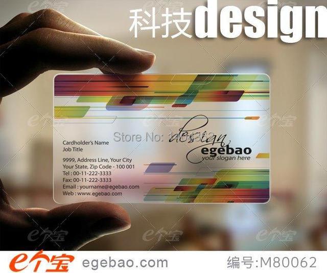 Vente Chaude Personnalisee One Twosided Impression Carte De Visite Clair Transparent En Plastique Cartes
