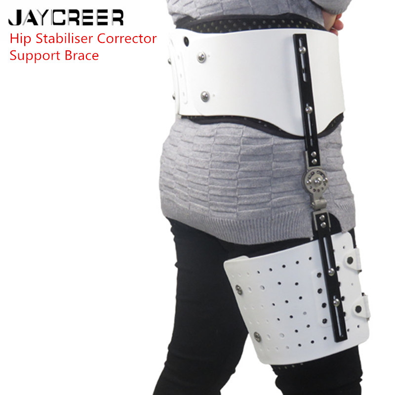 JayCreer Hip Fixation Brace Orthosis Extension Stent Thigh Fractures Corrective Protective Gear Support Fit Waist Size Max 114CM-in Braces & Supports from Beauty & Health