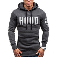 2018 Spring Autumn Males hoodies HOOD Only Just a Hoodies Men's Fleece Sportswear Warm Fashion Printed Sweatshirts Free Shipping