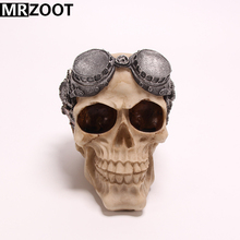 MRZOOT Gothic Punk Horrifying Skull Sculpture Resin Crafts Home Decoration, Halloween Festival Party Decoration or Holiday Gifts