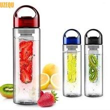 Uzequ 700 ml flesh obst infuser infusion wasserflasche sport gesundheit lemon saft machen flasche radfahren camping cup trinken flasche