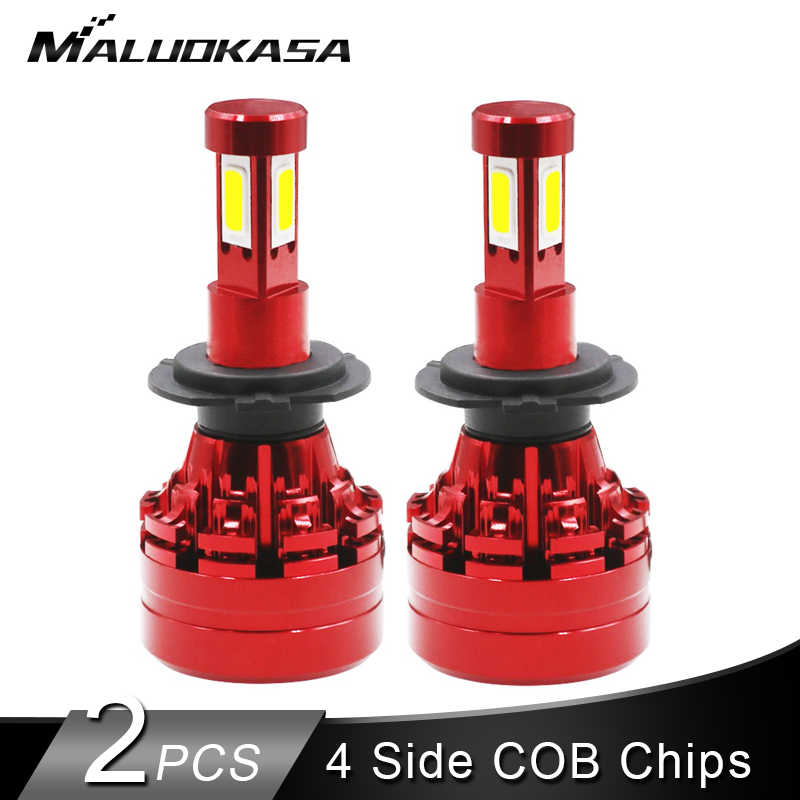 2PCS LED H7 H4 LED Headlight Bulb 16000LM/Set 40W 4 Side COB  Hi-lo LED H1 H11 H9 H13 HB3 HB4 Auto Fog Light 12v 24v Car Styling
