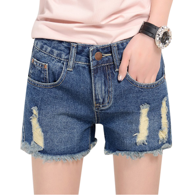 10827b15901 UWBACK 2016 New Summer Jeans Shorts Women Plus Size Denim Shorts Washed  Ripped Hole Summer Jeans Shorts Denim Short Femme CBB088